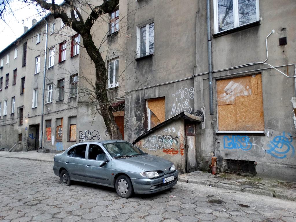 Łódź niebezpieczna, Włókniarska, Centrum, stara kamienica
