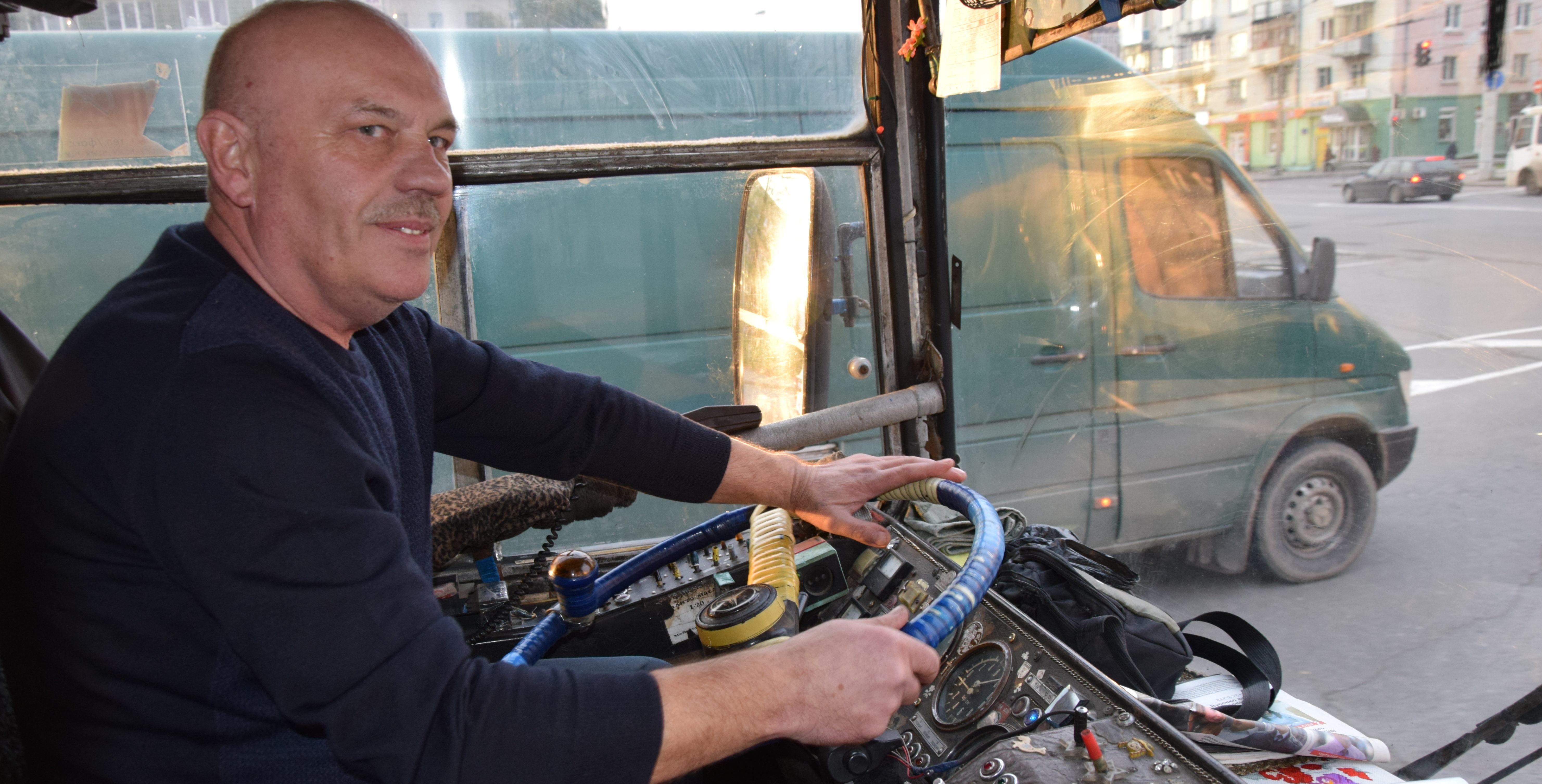 Reportaż z Łucka: 35 lat za kółkiem trolejbusu