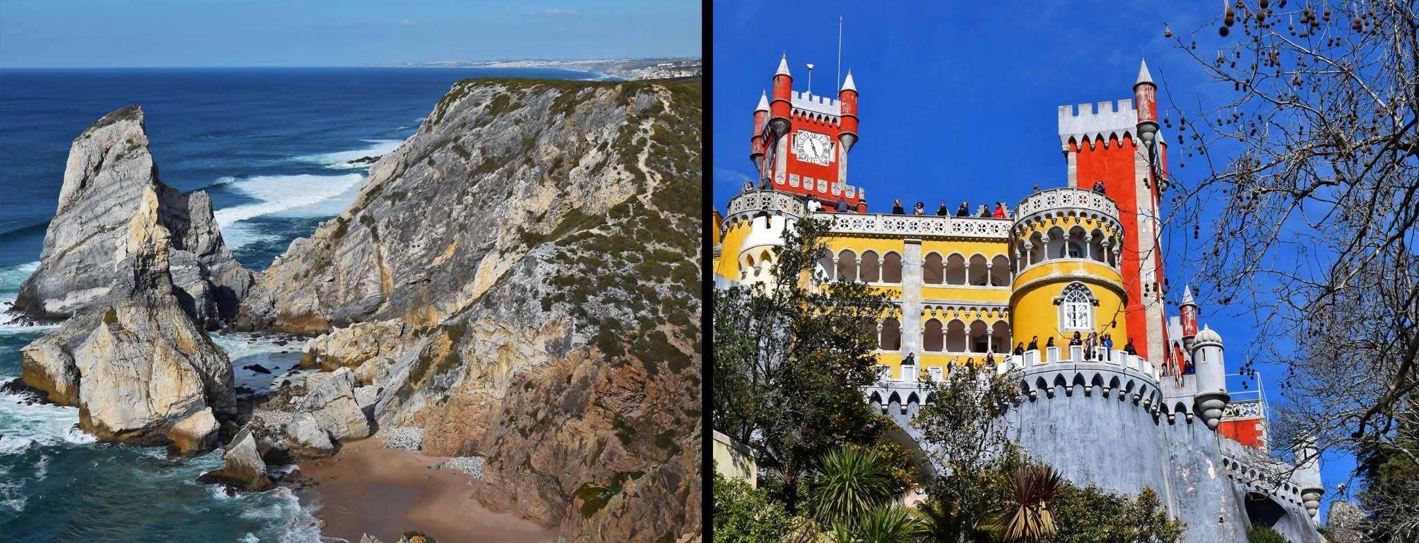 Sintra. Kiczowaty pałac Pena i niebiańsko piękna Praia da Ursa