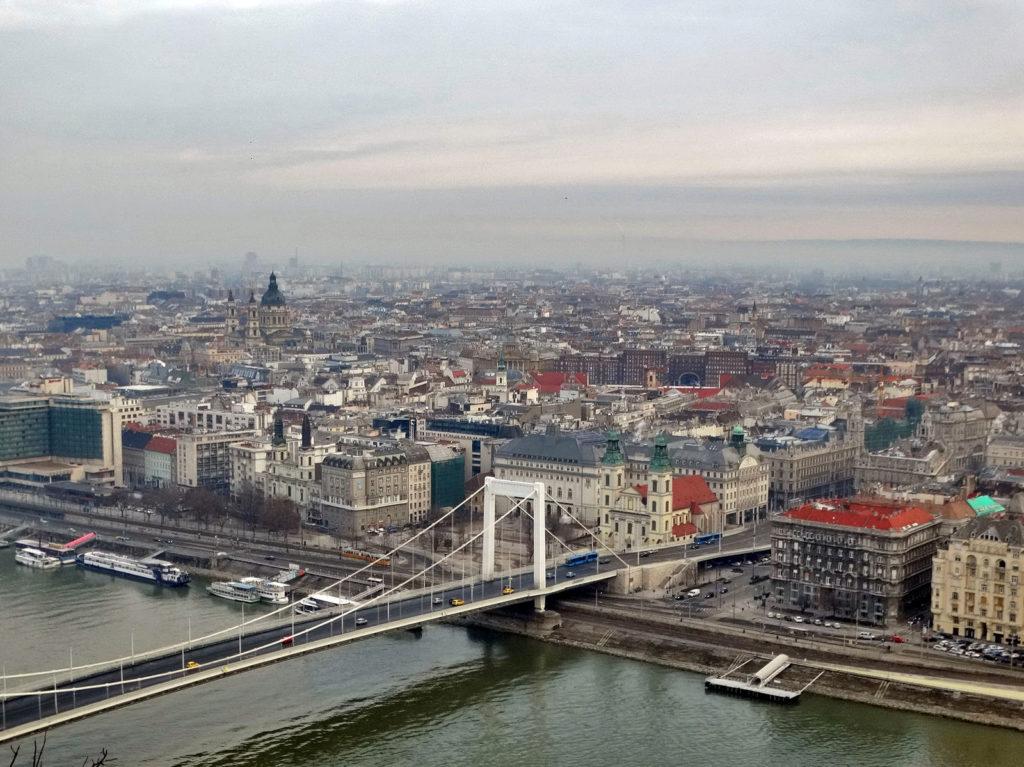 Budapeszt - punkt widokowy: Wzgórze Gellerta (Gellért-hegy)