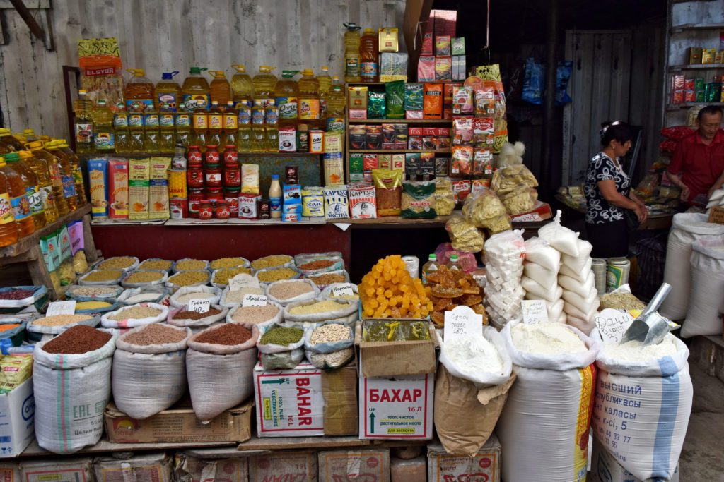 Bazar w Osz Kirgistan