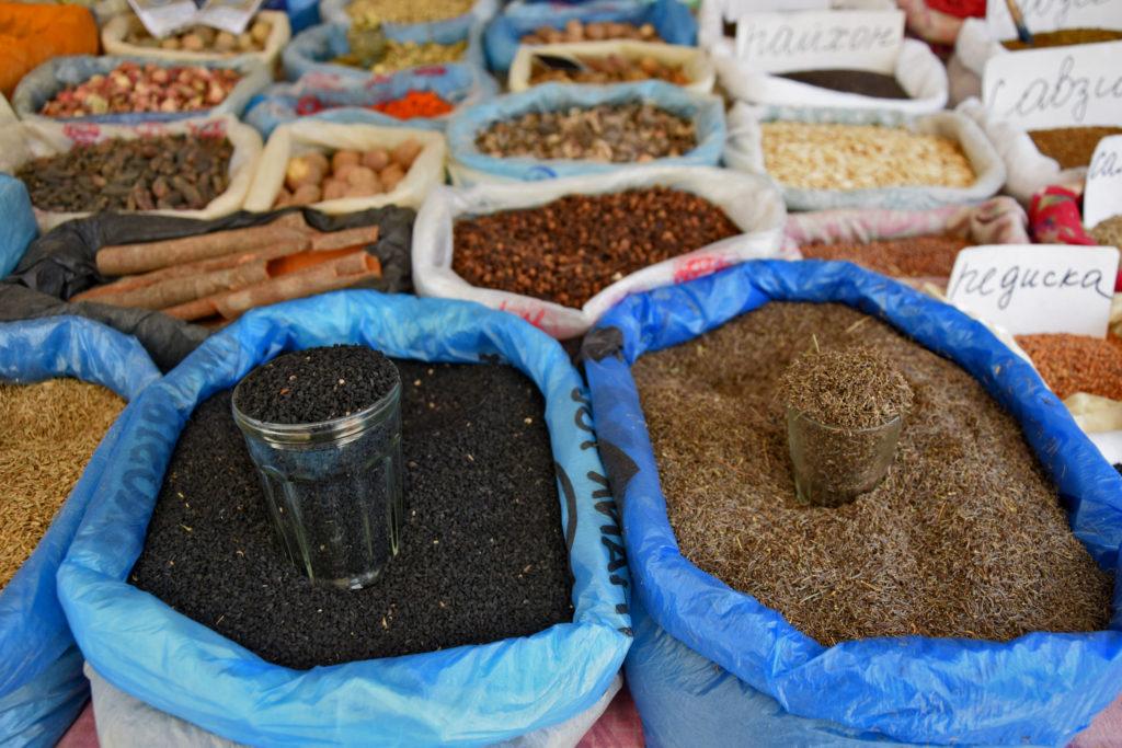 Bazar w Osz - przyprawy