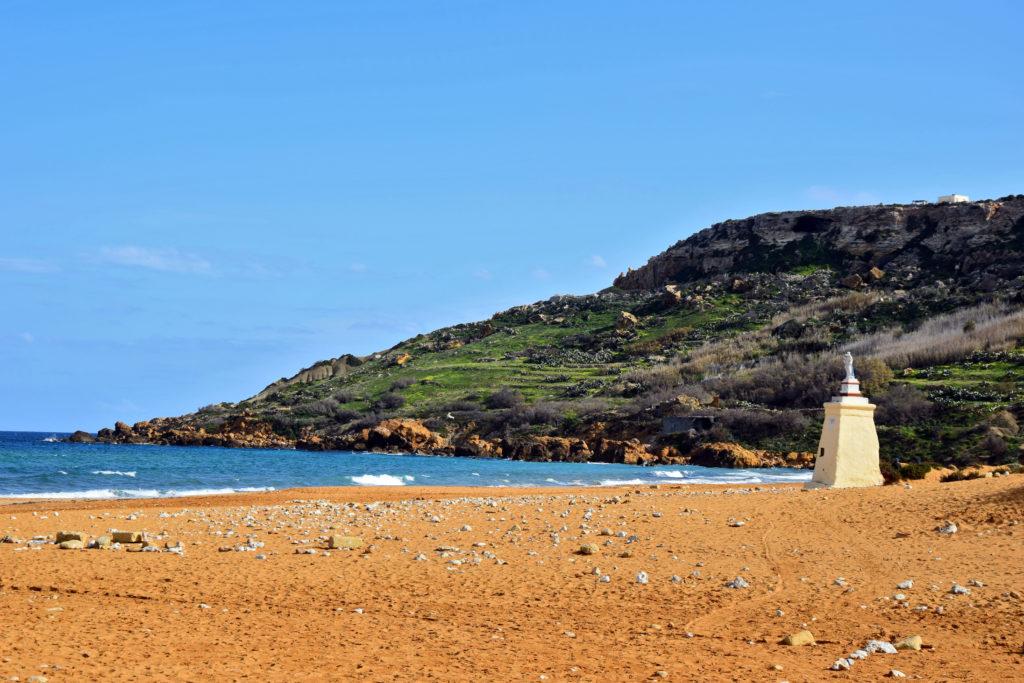 Malta, Gozo - Ramla zatoka plaża. Najpiękniejsze miejsca i atrakcje