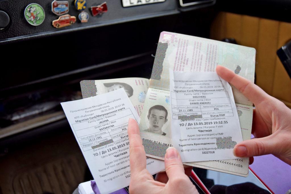 Naddniestrze, Republika Naddniestrza - dokumenty (paszport) potrzebne do przekroczenia granicy.