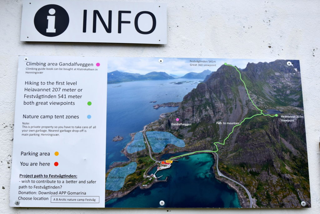 Norwegia, Lofoty, trekking pieszy na szczyt Festvågtinden