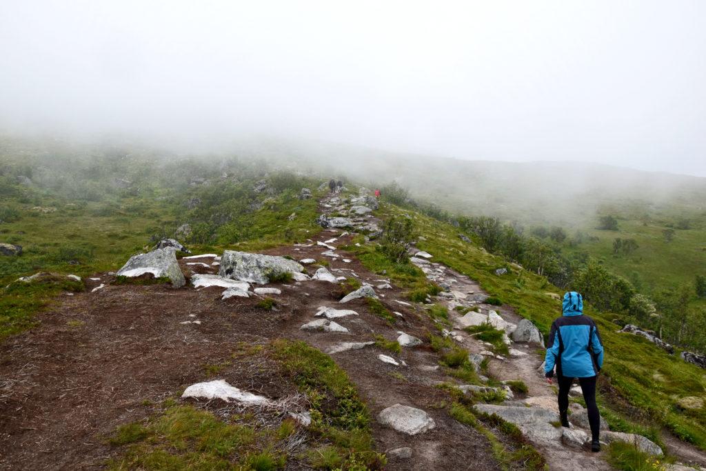 Lofoty, szlak pieszy, trekking,  Plaża Kvalvika