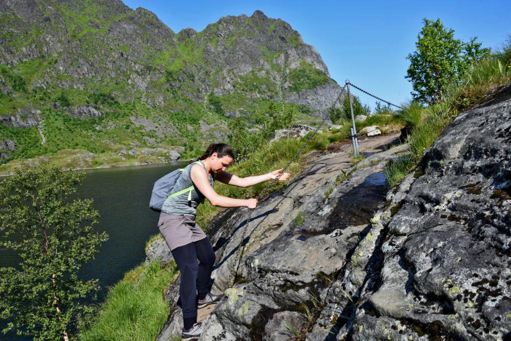 Lofoty, miejscowość A. Ågvatnet trekking wokół jeziora