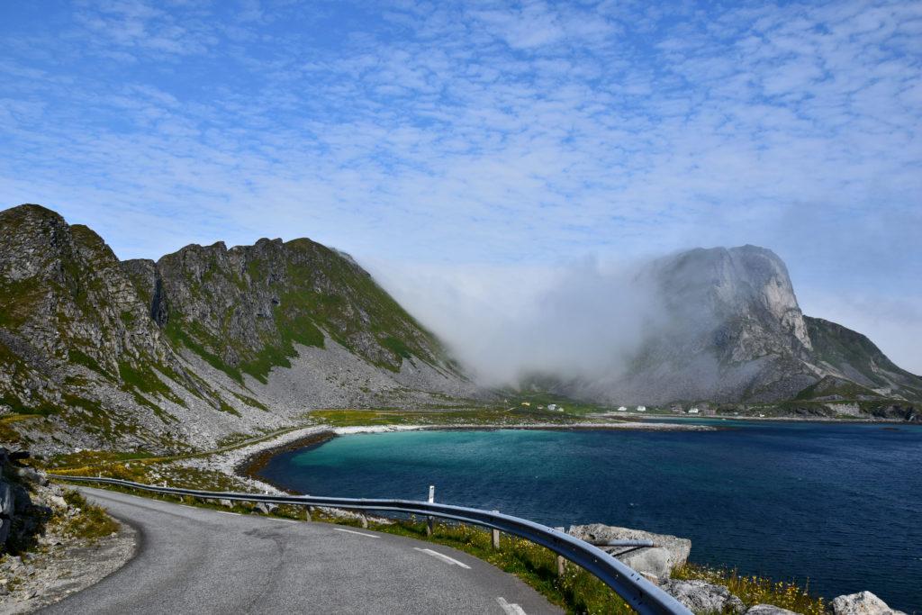 Norwegia, Lofoty na rowerze. Wyspa Vaeroy. W drodze do Nordland.