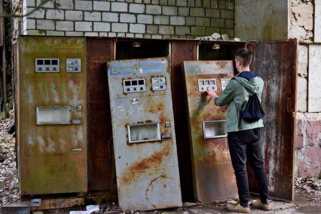 Prypeć, Czarnobyl. Opuszczone miejsca, saturatory z wodą