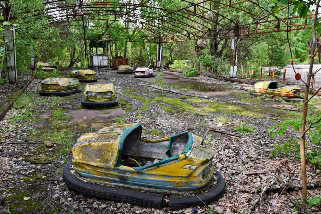 Prypeć, Czarnobyl. Samochodziki