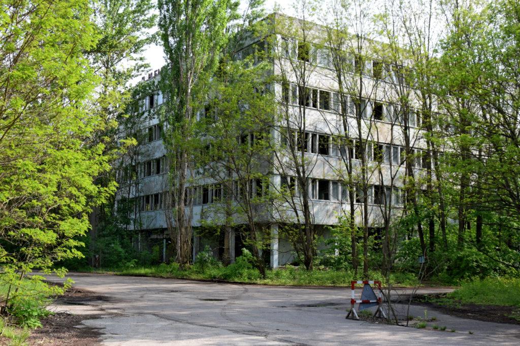 Prypeć, Czarnobyl. Szpital miejski - jego piwnice wciąż wykazują bardzo silne promieniowanie.