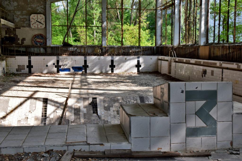 Prypeć, Czarnobyl. Basen olimpijski. Opuszczone miejsca