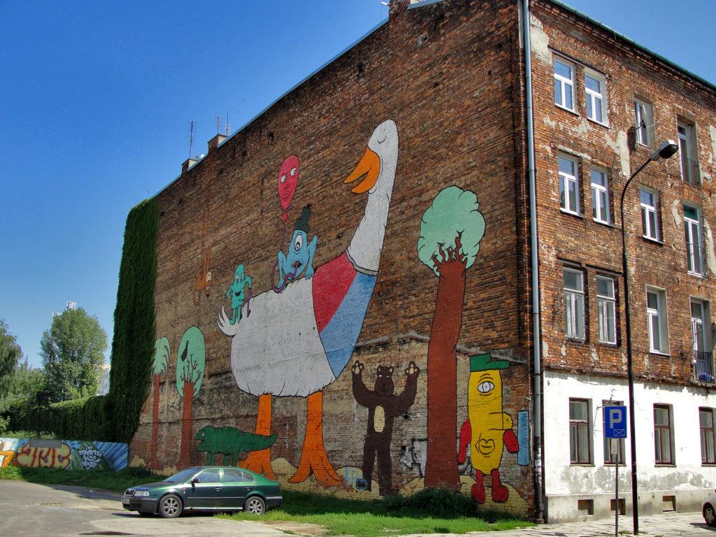 Warszawa, ciekawe i nietypowe miejsca. Mural ulica Brzeska.