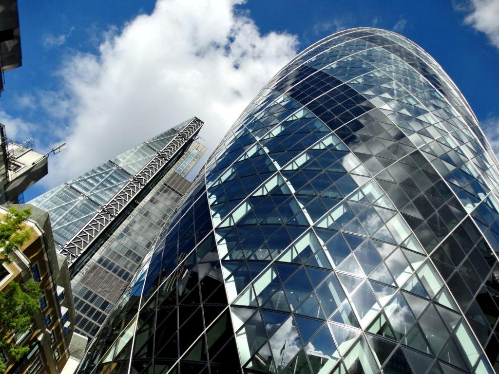 Londyn biurowiec. Ogórek (The cucumber)