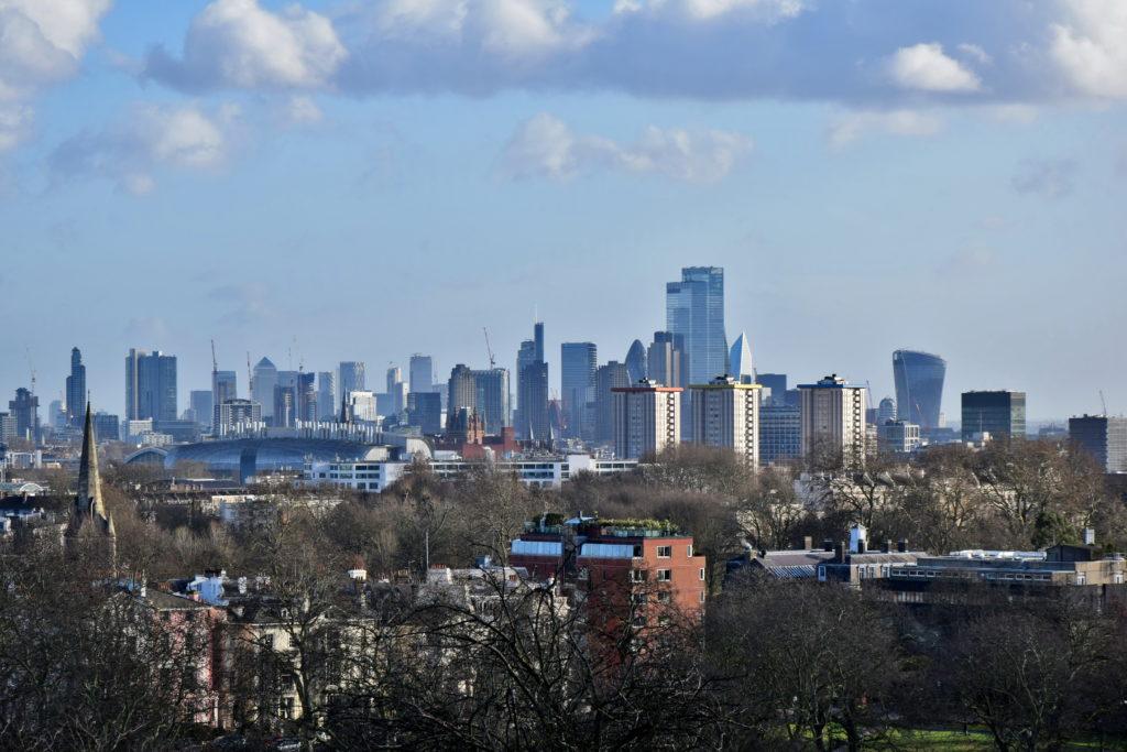 Primrose Hill - widok na Londyn