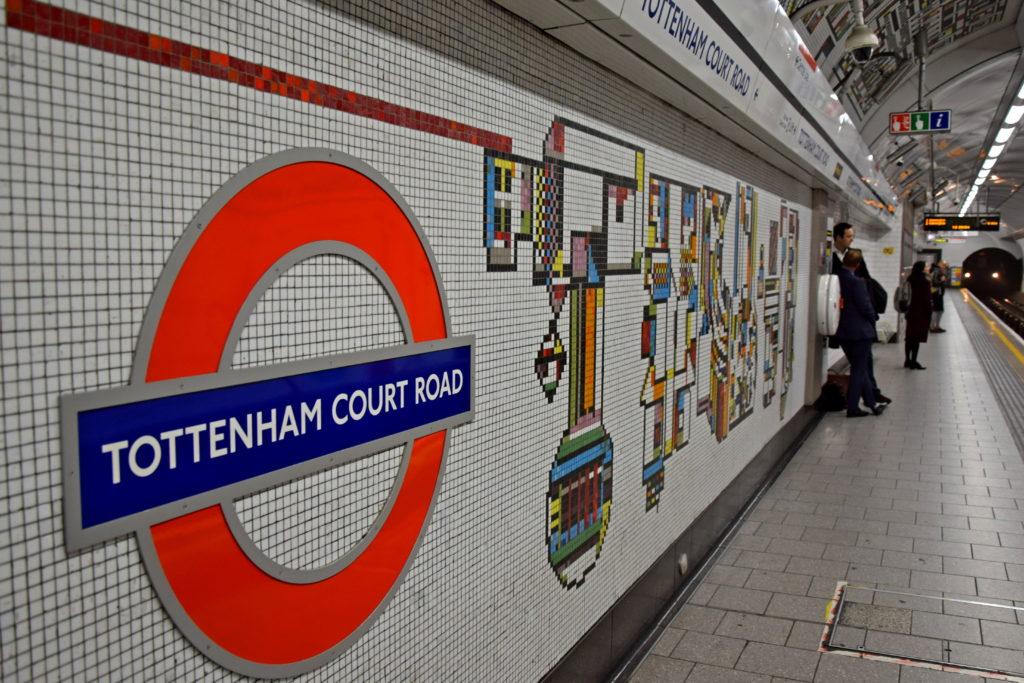 Metro w Londynie - wystrój stacji. Tottenham Court Road