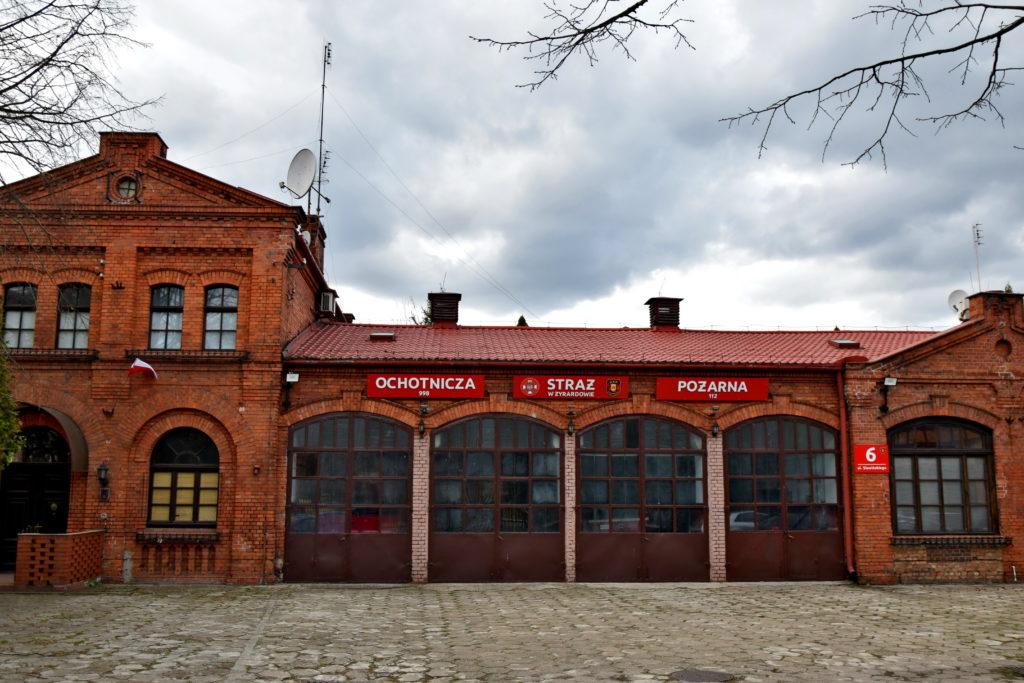 Żyrardów rewitalizacja, Siedziba Ochotniczej Straży Pożarnej jest także godna podziwu :)