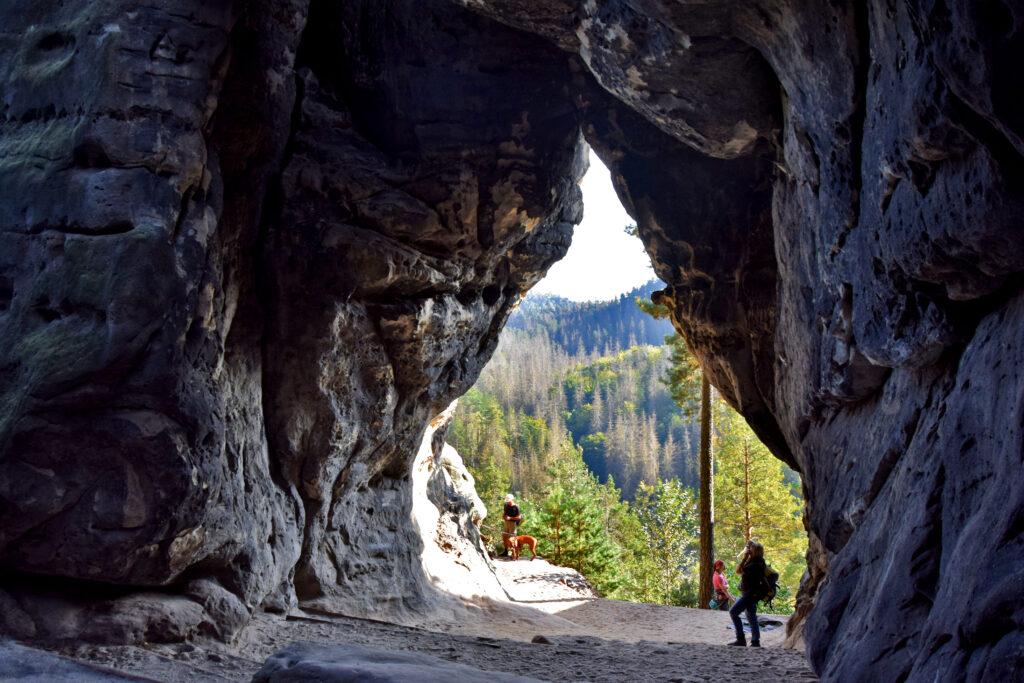 Saksońska Szwajcaria Kleinsteinhöhle