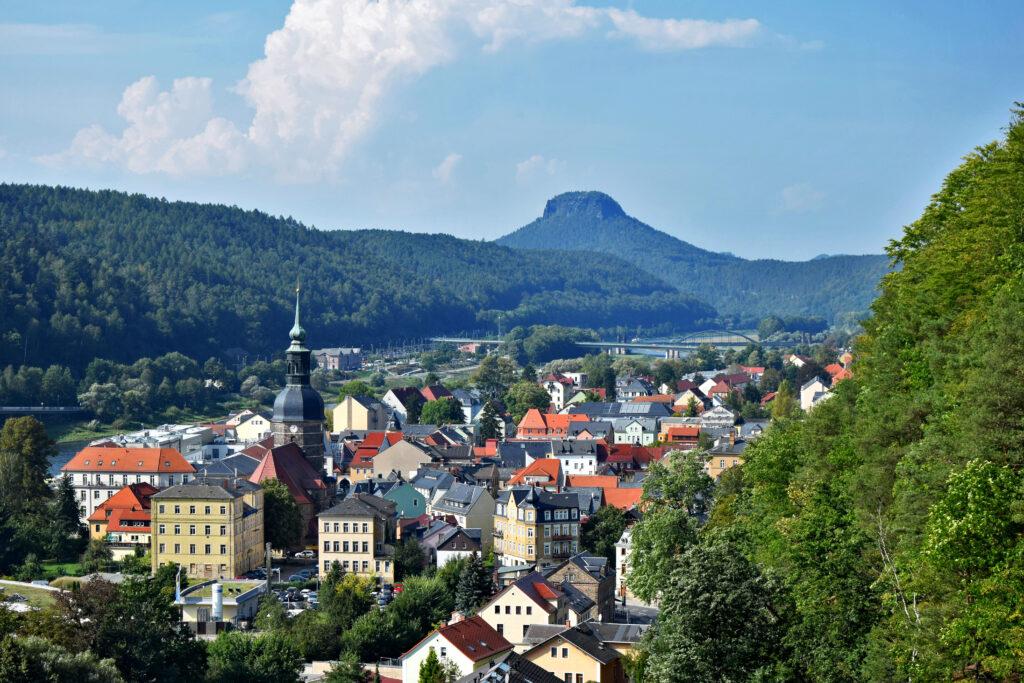 Bad Schandau panorama miasta
