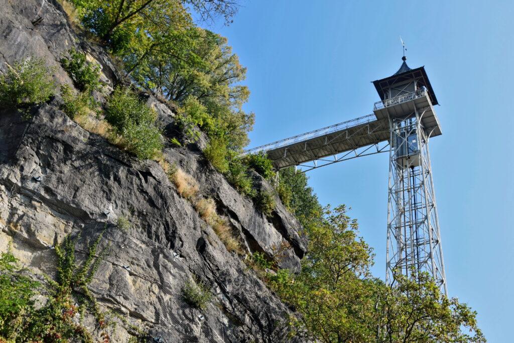 Bad Schandau Zabytkowa winda zewnętrzna Personenaufzug