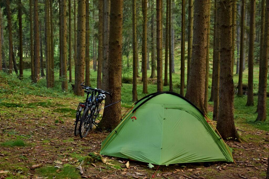 Czeska Szwajcaria namiot na dziko