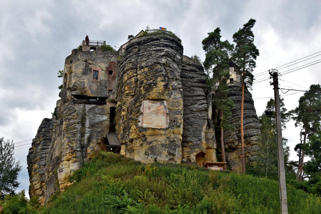 zamek Sloup Czeska Szwajcaria