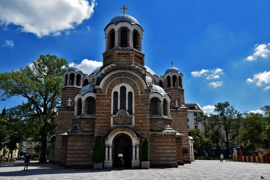 Cerkiew Świętych Siedmoczislenników, przebudowana z meczetu.