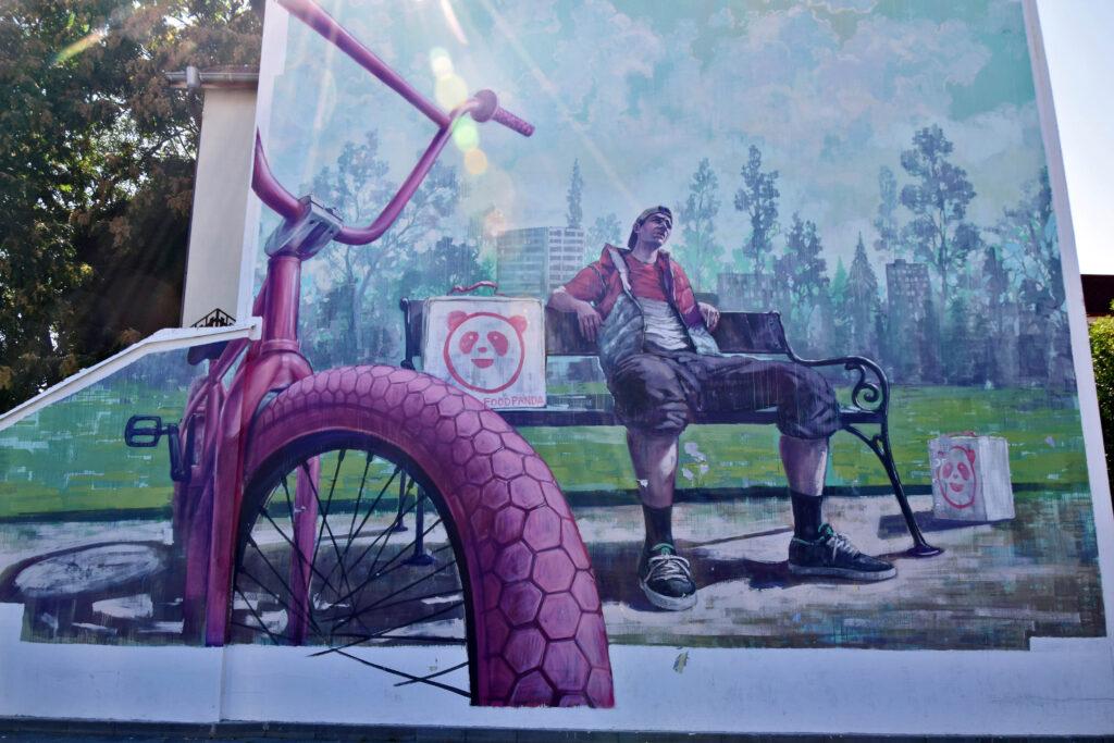 Płowdiw (Plovdiv) - mural, dzielnica Kapana.