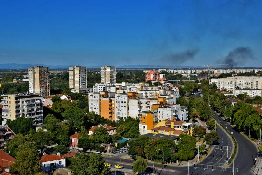Plowdiw (Plovdiv), wzgórze Nebet Tepe. Widok na miasto.
