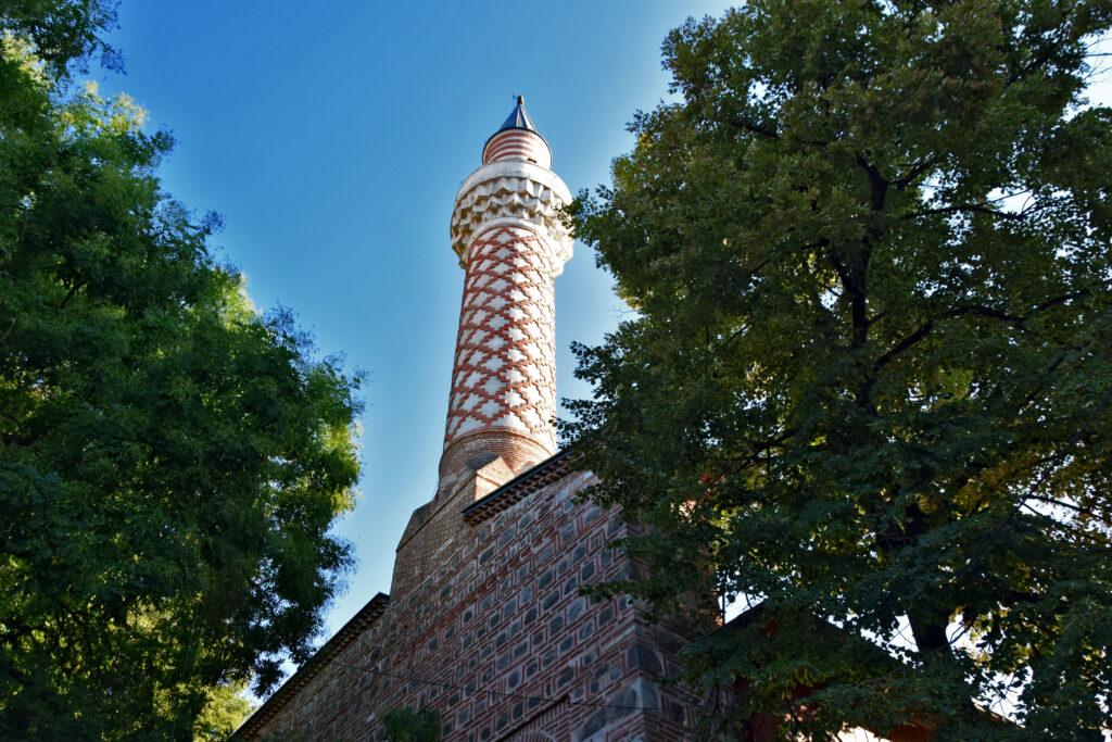 Meczet Dżumaja w Płowdiwie, minaret. Plovdiv.
