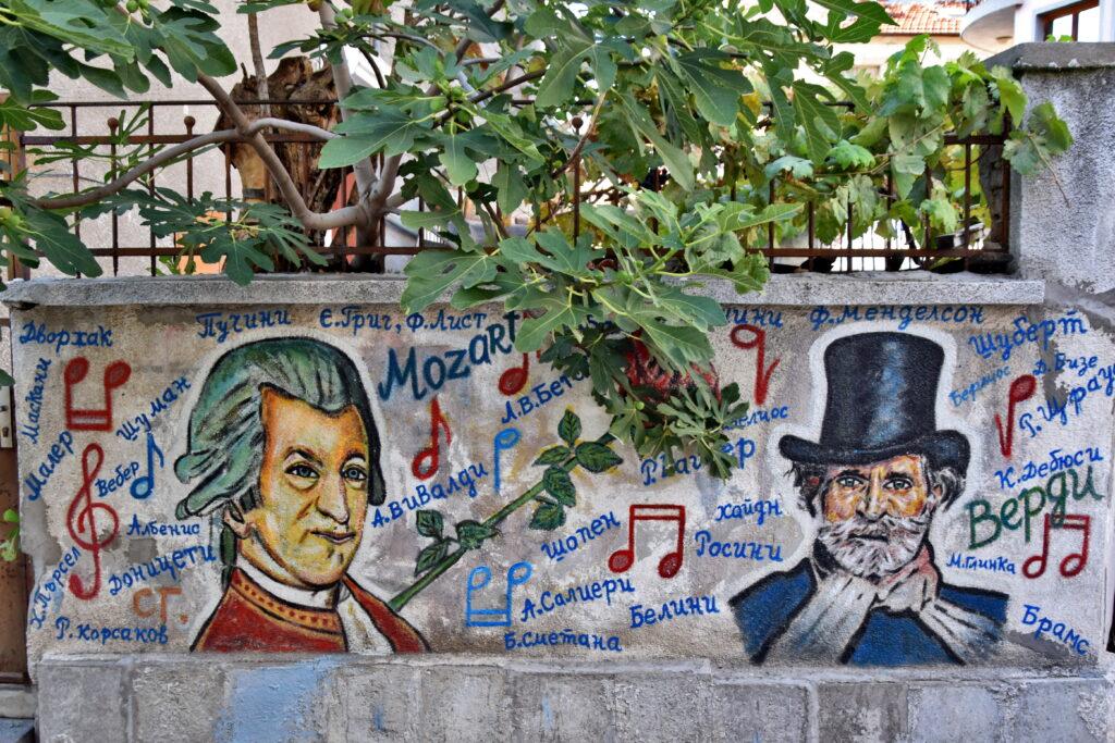 Płowdiw (Plovdiv) - Kapana - hipsterska dzielnica miasta kultury. Mozart.