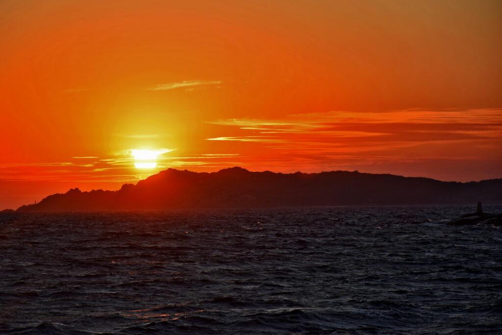 La Maddalena - zachód słońca