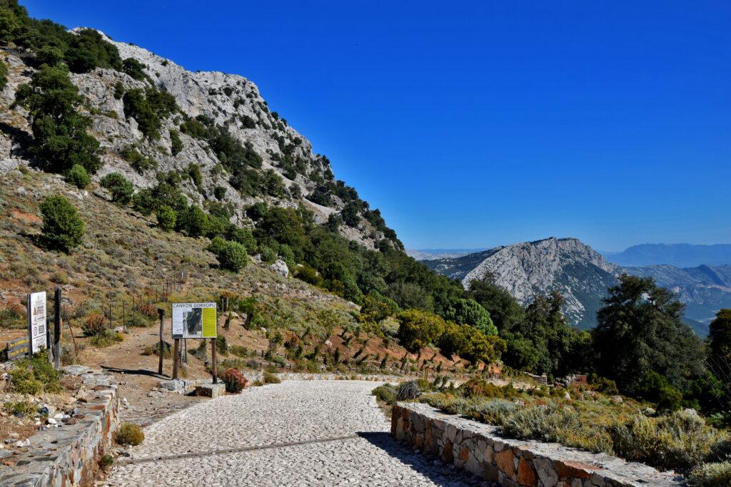 Wąwóz kanion Su Gorropu Sardynia, przełęcz Silana
