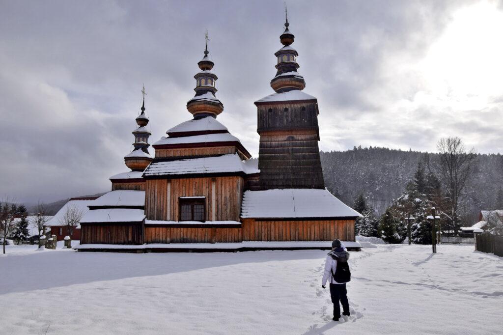 cerkiew pw. św. Kosmy i Damiana w Krempnej. Krempna, beskid niski.