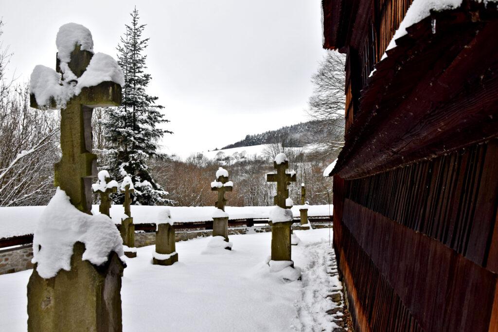 Kotań Cerkiew św. św. Kosmy i Damiana. cmentarz