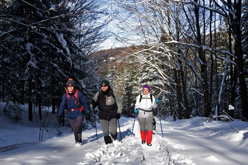 Magurski Park Narodowy, Beskid Niski zimą.
