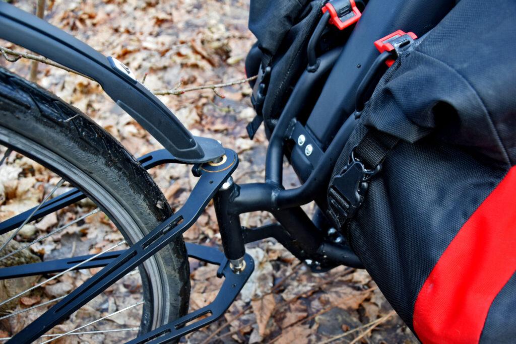 Extrawheel Brave połączenie z rowerem