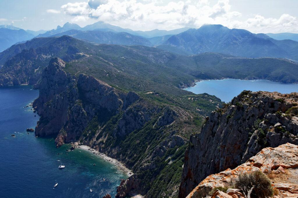 Capu Rossu Korsyka widok Torra di Turghju