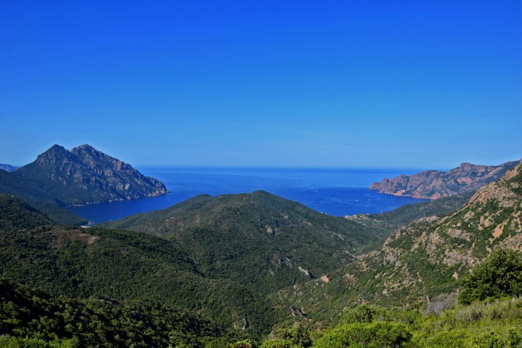 Korsyka na rowerze punkt widokowy Piana