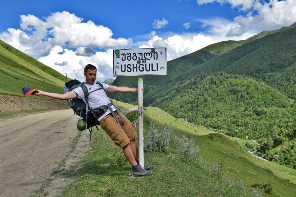 droga z Mestii do Ushguli. Gruzja