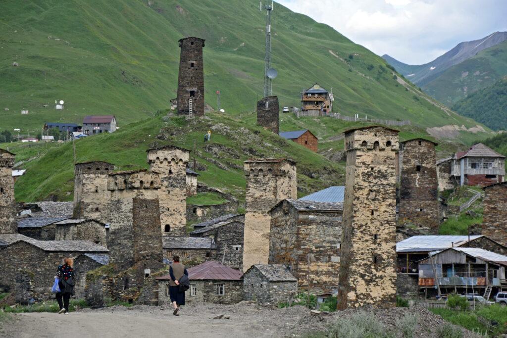 Ushguli wieża swańska, Swanetia.