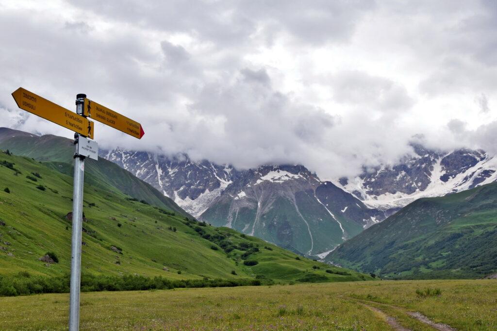 Ushguli - Shkhara lodowiec, trekking w Swanetii