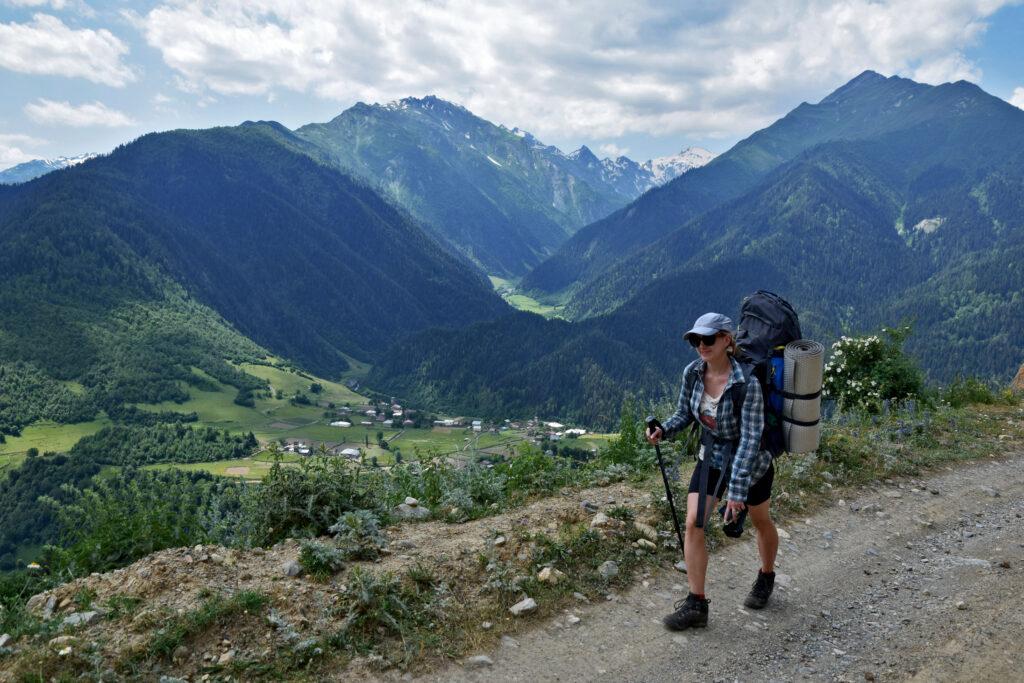 Ughviri pass, przełęcz. Swanetia, trekking do Ushguli