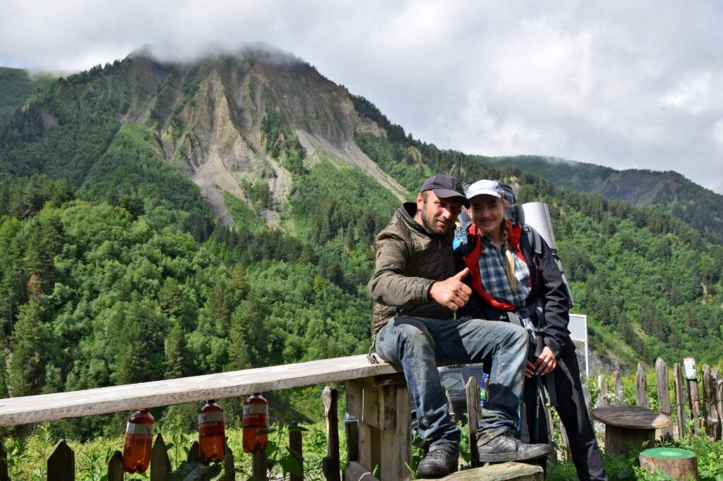 Swanowie, Gruzini. Wysoki Kaukaz, Adishi trekking