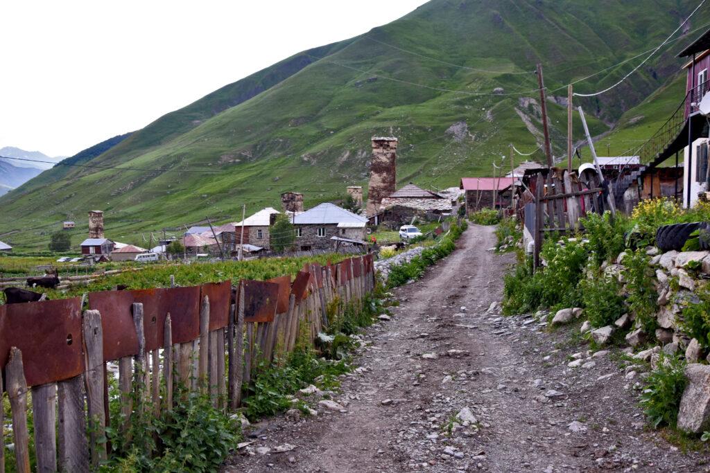 Swanetia droga do Ushguli. Kaukaz