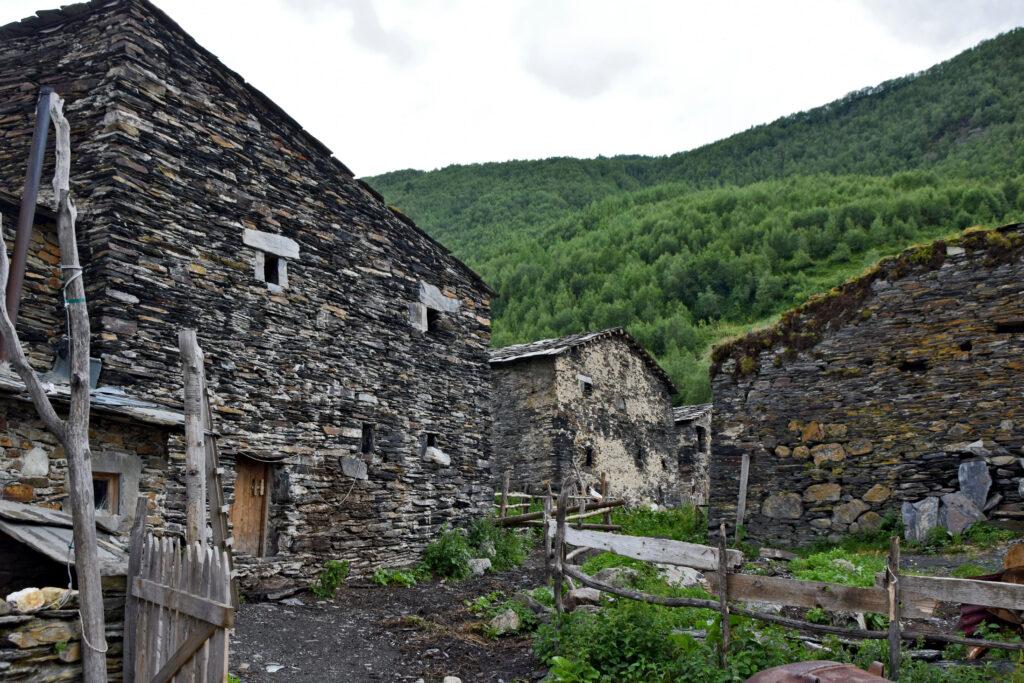 Ushguli średniowieczny budynek Swanetia