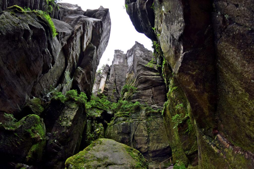 Teplickie skały skalne miasto Czechy