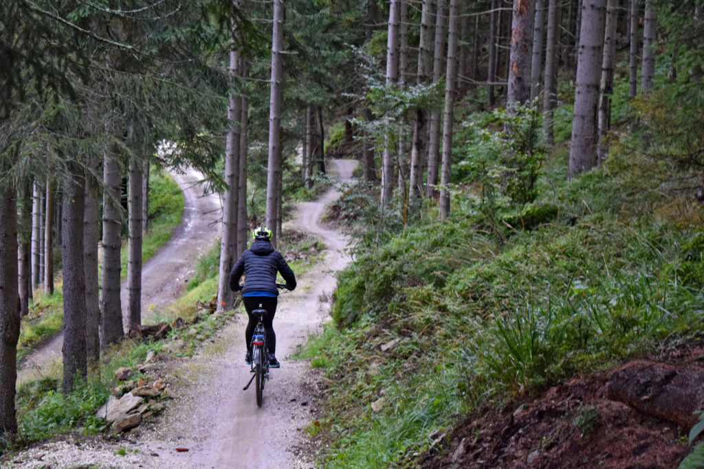 Dolna Morawa single track jazda. zjazd rowerem