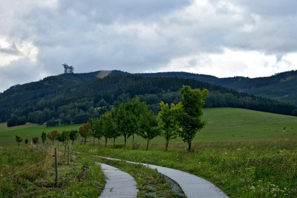Dolna Morawa widok, ścieżka