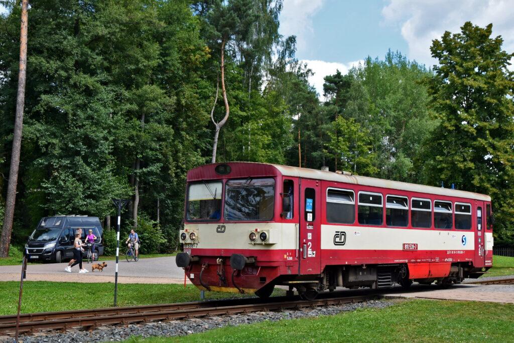 Czechy Adrspach pociąg ceske drahy